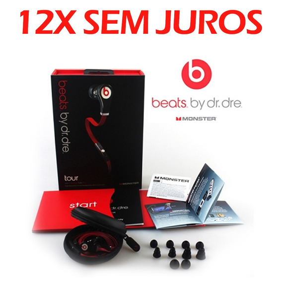 Fone De Ouvido Intra Auricular In Ear Tour Black Beats