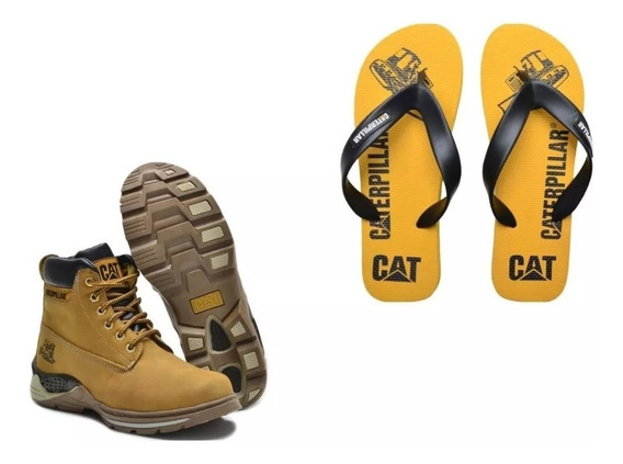 Kit 2 Botas Caterpillar Coturno En Cuero Oferta Imperdible
