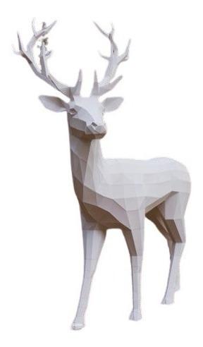Venado Grande  Navidad - Papercraft  Papel Origami Pdf