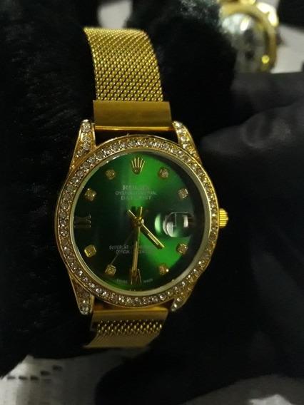 Relógio Feminino Estilo Rolex Dia Dos Namorados