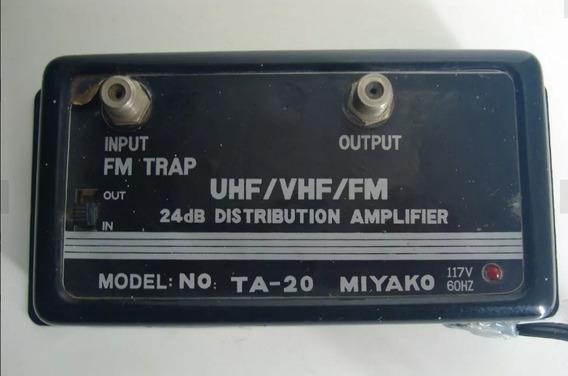 Amplificador De Cable Coaxial Vhf Uhf Fm Antena Tv