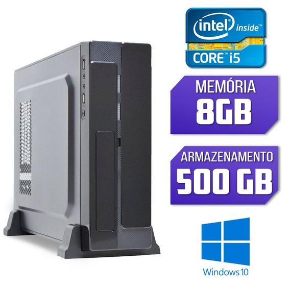 Computador Slim Intel Core I5 8gb Ram Hd 500gb Windows 10