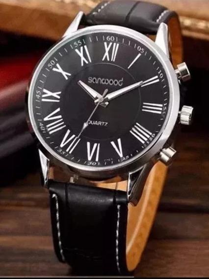 Relógio Masculino Luxo Casual Números Romanos Oferta