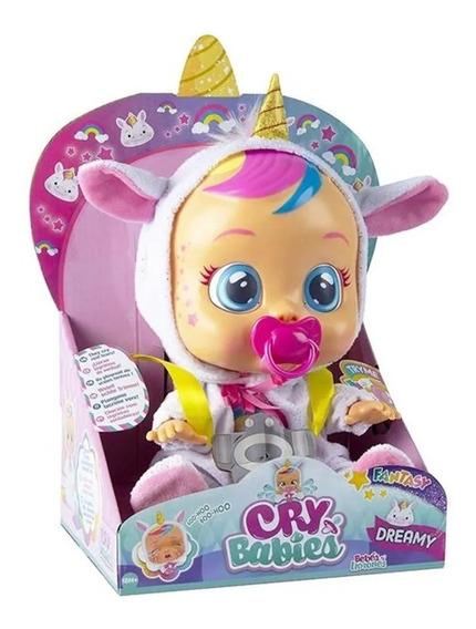 Boneca Cry Babies Dreamy Unicórnio Chora Com Som E Lágrimas