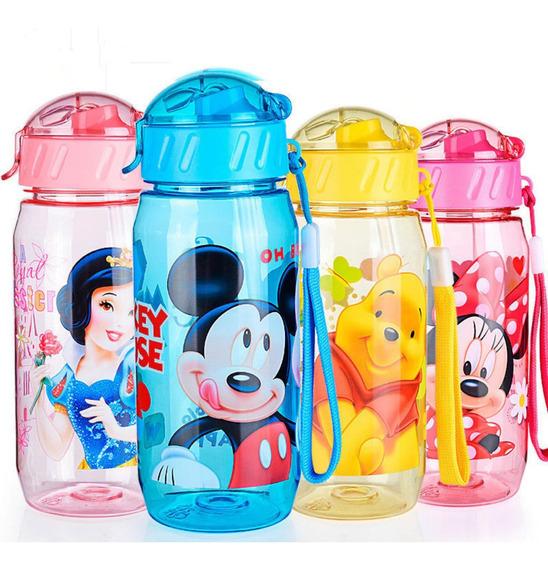 Garrafa Squeeze Da Minnie, Mickey E Capitão América Disney, Avengers
