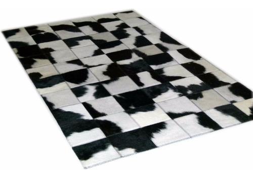 Imagen 1 de 6 de Alfombra Patchwork De Cuero De Vaca Con Pelo!!! 1.0m X 0.6m