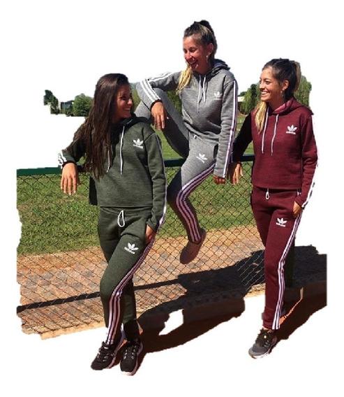 Conjunto Jogging Y Buzo adidas Frizado De Mujer Original
