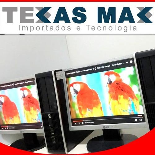 Imagem 1 de 6 de Desktop Pc Dell Core 2 Duo+ssd 120 +monitor 15+mouse+teclado
