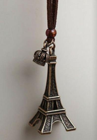 Collar + Dije Torre Eiffel Vintage Paquete 9 Piezas