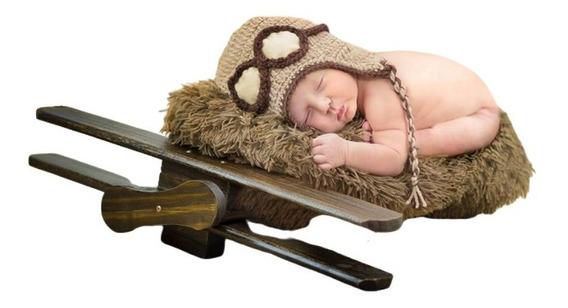 Avião Envelhecido Prop Foto Newborn Acompanhamento Bebê
