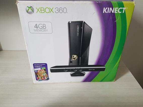 Vídeo Game Xbox 360 Com 3 Controles E Carregador