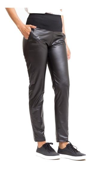 Pantalón Chupin Negro Tiro Alto Elastizado Giacca