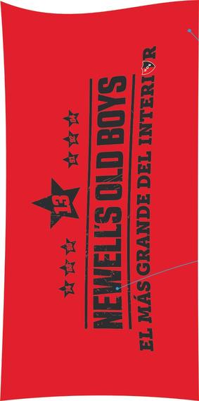Toallón Playero Newells Old Boys Diseño 2 100% Algodón