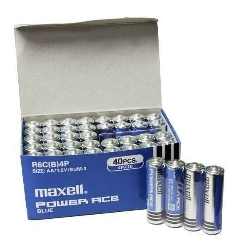 Pack 40 Pilas Aa Doble A Maxell Ultra (carbón)