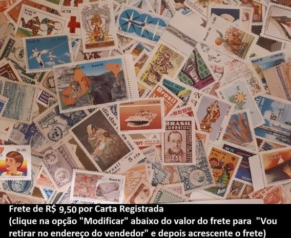 Lote Com 200 Selos Comemorativos Novos Diferentes - Brasil
