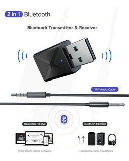Transmisor Receptor Bluetooth V5.0 Usb Para Pc Tv Altavoz