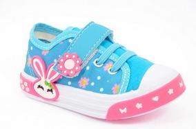 Tênis Infantil Bebê Feminino Celeste Pink Coelhinho Azul