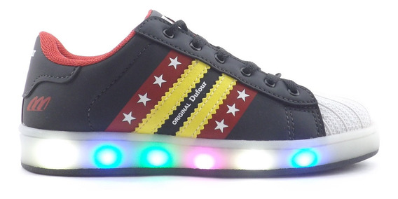 Zapatillas Dufour Unisex Luces Led Recargables Promo 3568