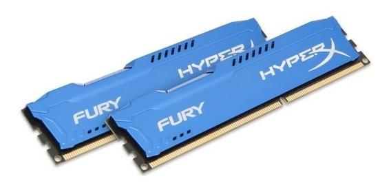 1 Memoria Kingston Hyperx Fury Ddr3 16gb(8x2) 1600 Mhz