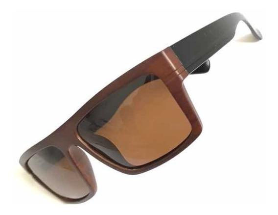 Óculos De Sol Masculino Madeira Quadrado Trend-18179 Origina