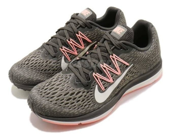 Zapatillas Nike Air Zoom Winflo 5 Mujer Running Aa7414-004