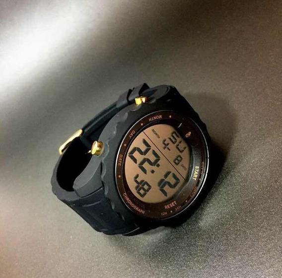 Relógio Atlantis Preto Esportivo - 100% Original