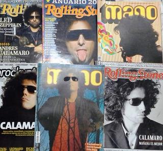 6 Revistas Calamaro - La Mano Inrockuptibles Rolling Stone