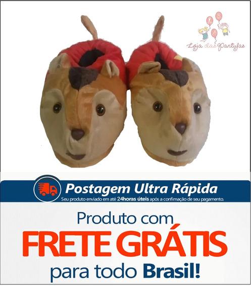 Pantufa Alvin Esquilo Infantil Adulto Unisex Frete Gratis