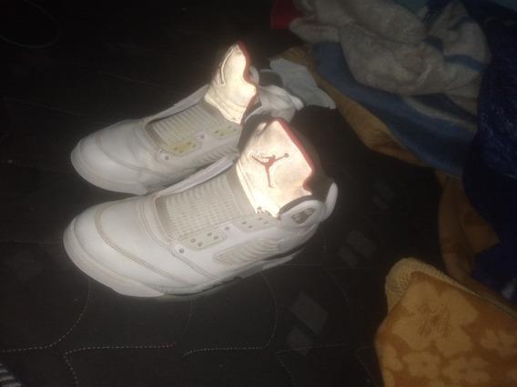 Zapatillas Jordan Retro 5 White Cement