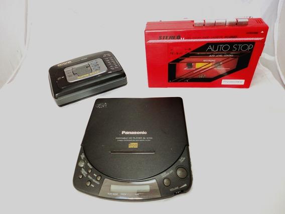 Lote 1 Discman Panasonic + 2 Walkman Aiwa & International