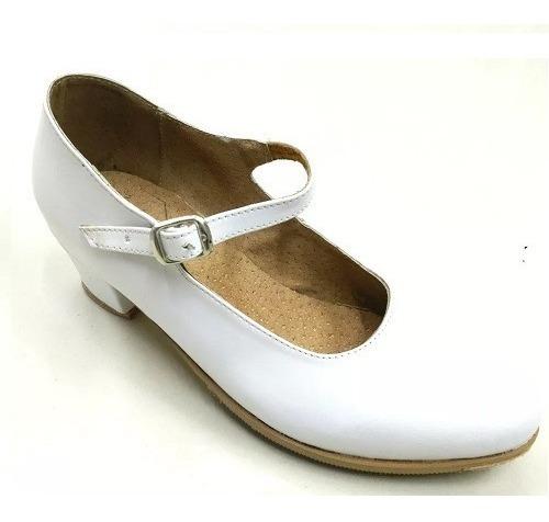 Zapato Danza Folklor Blanco Dama ¡envio Gratis!