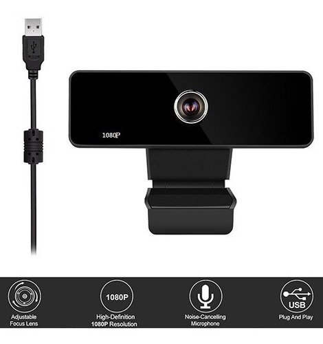 Camara Web An-810 - Usb Micrófono Integrado - 1080p Full Hd