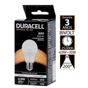 Lâmpada Led Duracell Bulbo 4.9w - Duracell