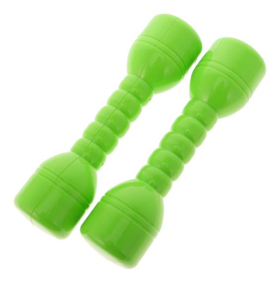 1 Par De Halteres De Plástico Com Som Home Fitness Exercíc