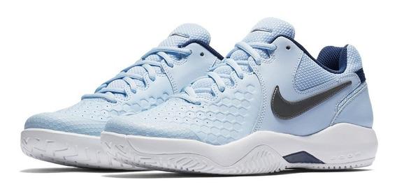 Tenis Nike Air Zoom Vapor Resistance Dama Azul