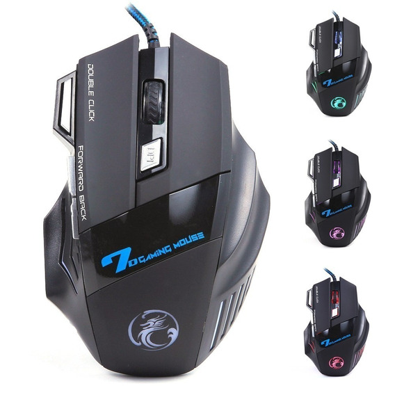 Mouse Gamer Bmax X7 Usb Led Óptico 2400 Dpi 7 Botões Jogo