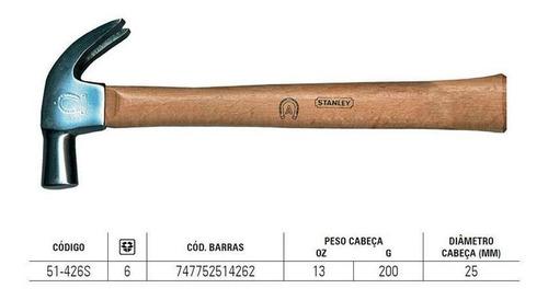 Martelo Unha Cabo Madeira 25mm Stanley 51426-ferradura