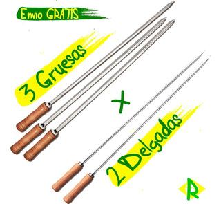 3 Espada / Pincho Gruesos + 2 Delgados Brasileño Tramontina