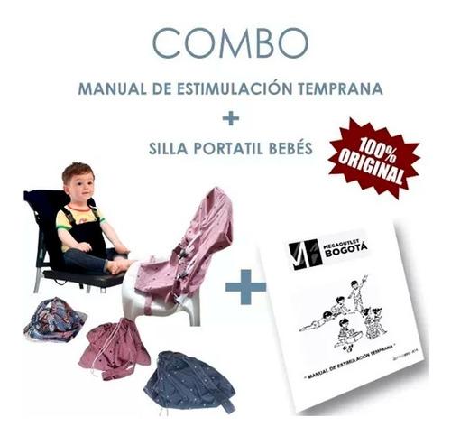 Imagen 1 de 1 de Combo Silla Portatil Bebes + Manual Estimulacion Temprana