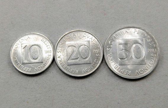 Moneda Eslovenia 10, 20 Y 50 Stotinov 1993