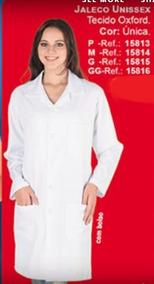 Jaleco Unissex Branco Manga Comprida Com Bolso Oferta