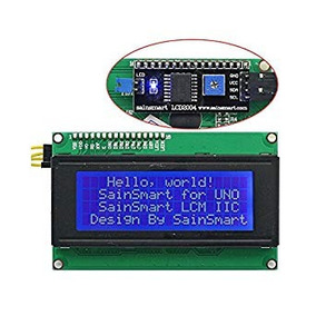 Display Lcd 20x4 Luminoso Azul Com Módulo I2c