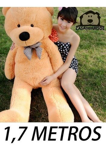 Imagem 1 de 6 de Urso Pelúcia Gigante 1,7 Mts Teddy Bear 170cm + Enchimento