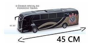 2 Ônibus Corinthians Iveco Bus Miniatura - Usual Brinquedos
