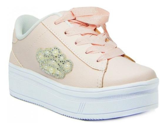 Tênis Infantil Pink Cats Flatform V0421 Casual - Rosa