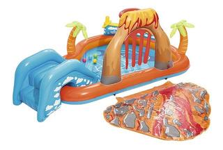 Pileta Inflable Niños Bebes Tobogan Bestway 53069