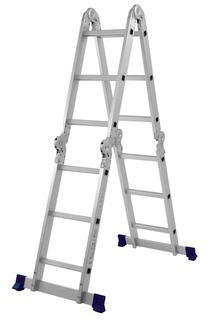 Escada Multifuncional 4x3 Alumínio Dobrável 12 Degraus 5131