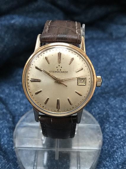 Relógio Ouro 18k Plaquê Nível Do Ômega Automático Da Eterna