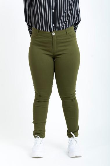 Pantalones Mujer Talles Grandes Chupin Elastizados Bengalina