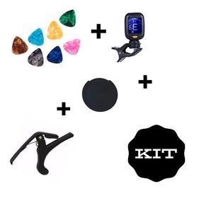 Kit Capotraste + Afinador Digital + No Feedback + Palhetas